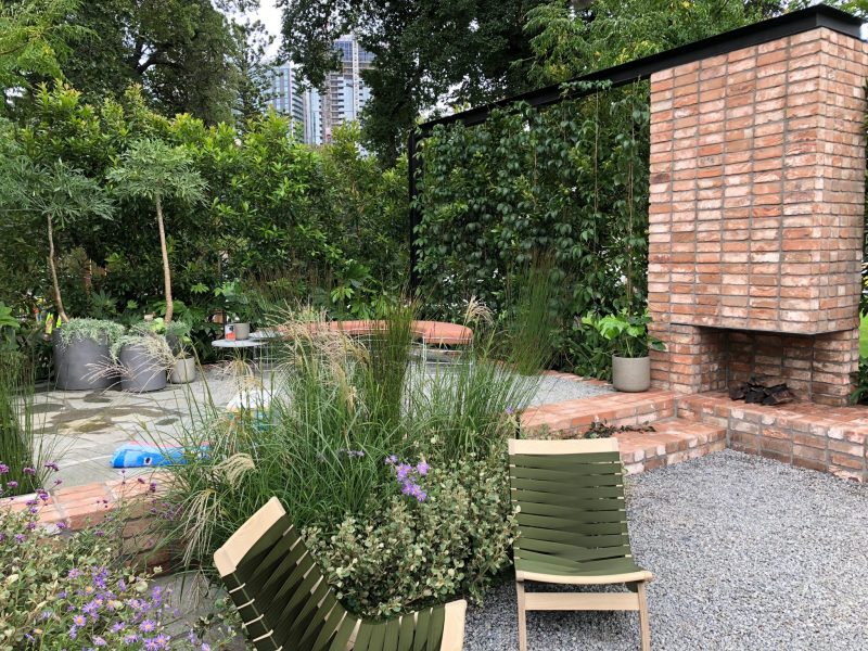 Mifgs australian case study garden eckersley garden architecture finishing touches glorious furniture from grazia co lighting from light on landscape plants and pots from the plant society and the balcony garden aloadofball Gallery
